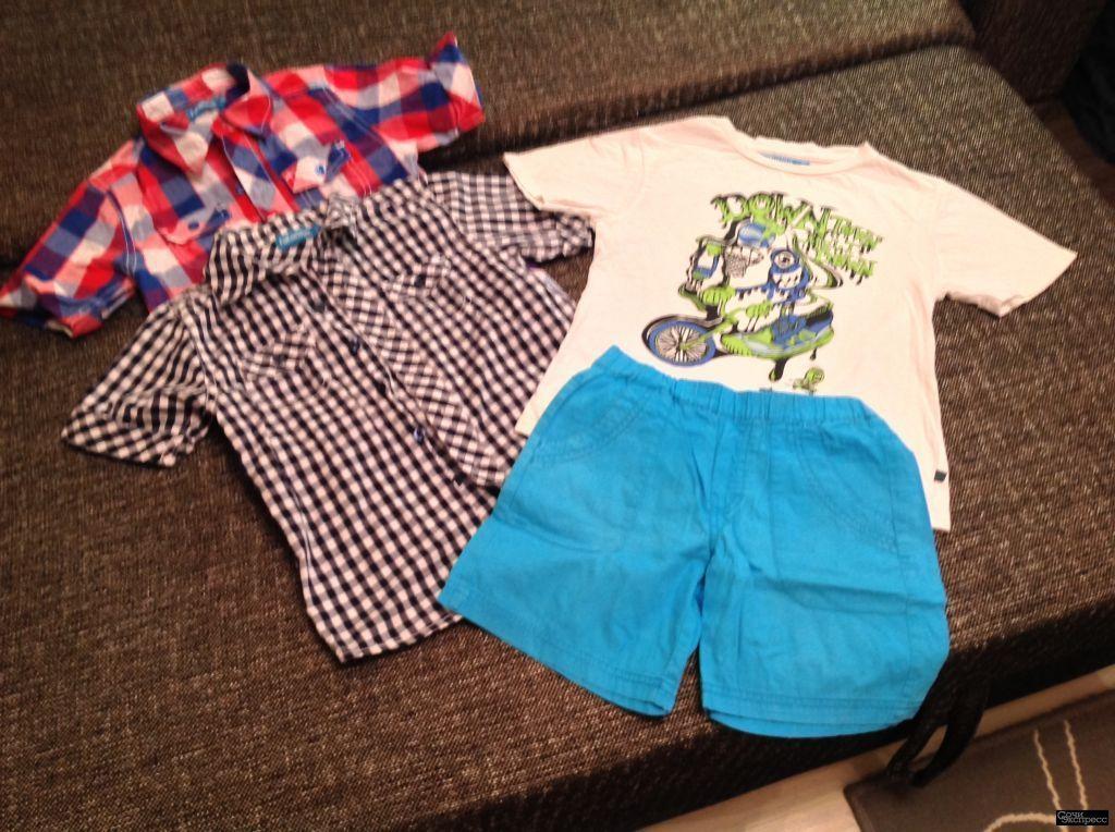 Рубашки и шорты с майкой р 122