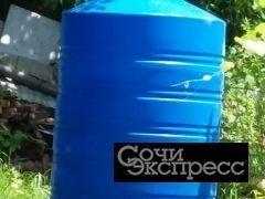 Емкость вертикальная низкая на 1000 литров ПластБак новая