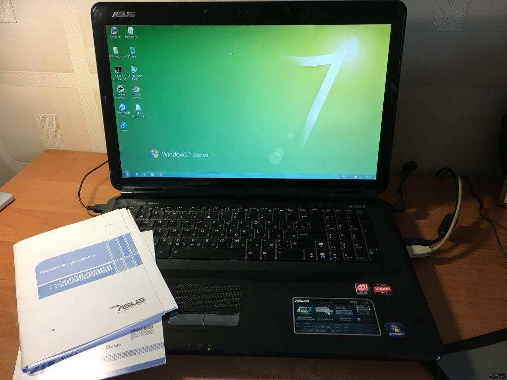 Ноутбук Asus K70AF 3.00 гб 17.3 дюйма