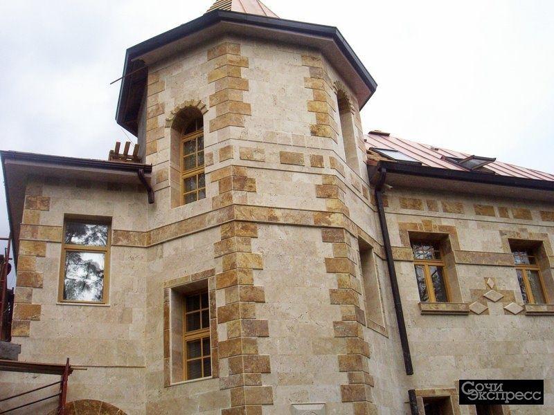 Фасадная плитка из натурального камня для влажного климата