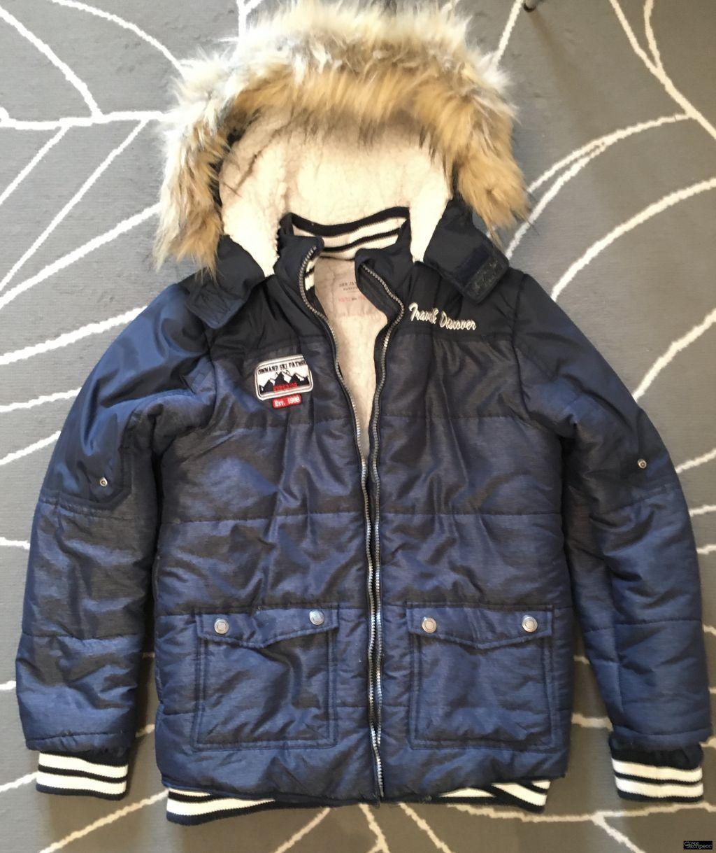 Куртка детская на искусственном меху р. 152
