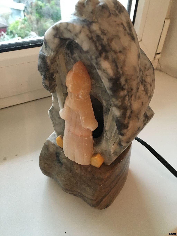 Светильник ночник из натурального резного камня