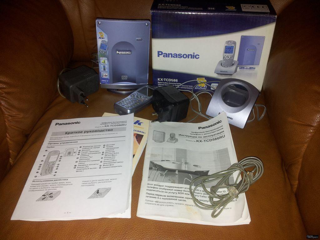 Продам телефон «Panasonic» цифровой, беспроводной с автоответчиком и записной книжкой. В коробке с и