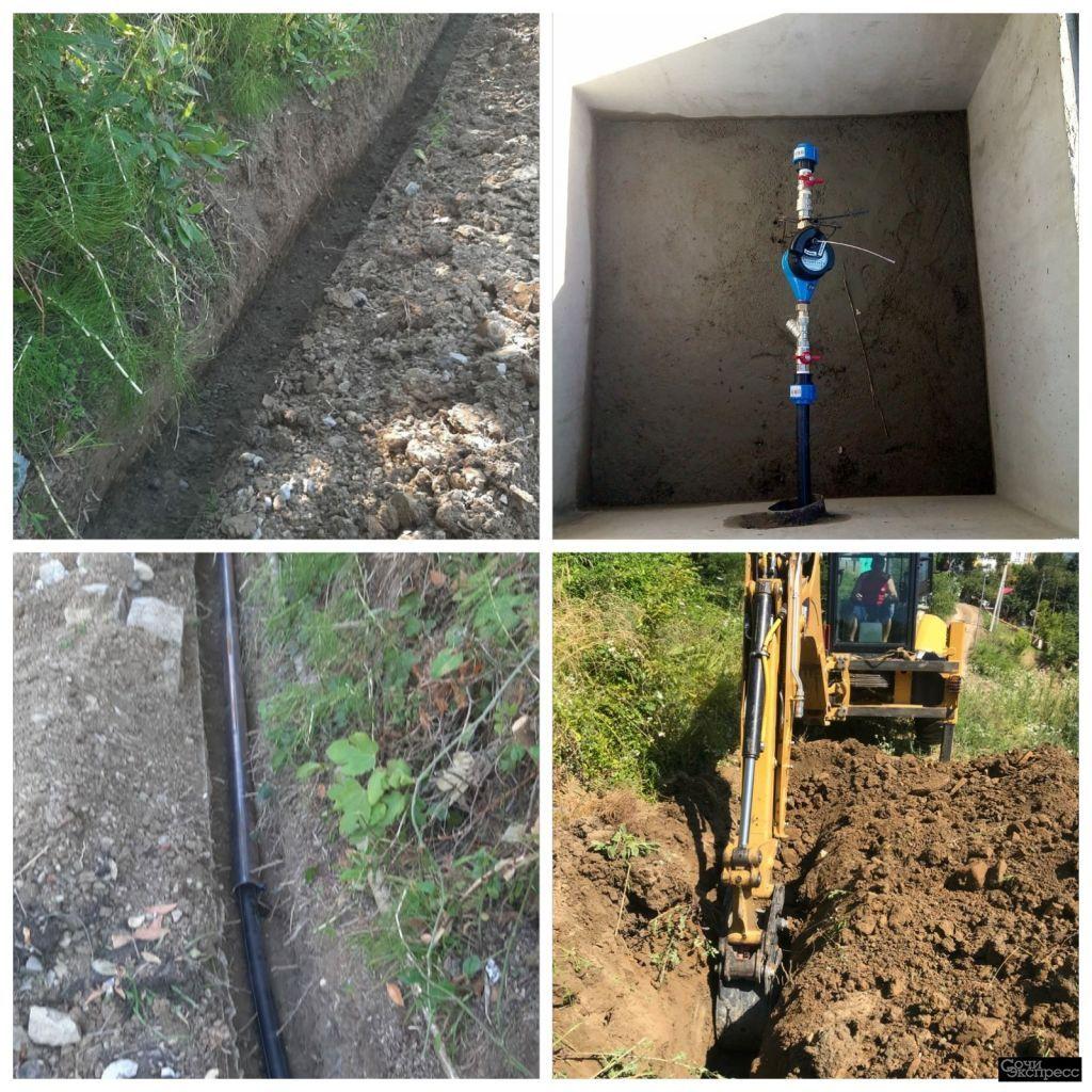 Подключение к водоснабжению под ключ в Сочи