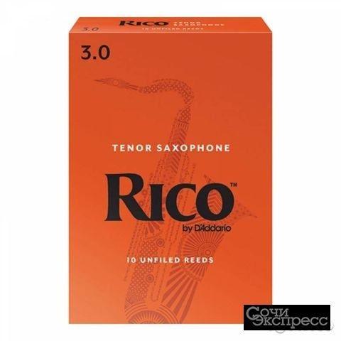 Трости для саксофона тенор, размер 3.0, 10шт, Rico