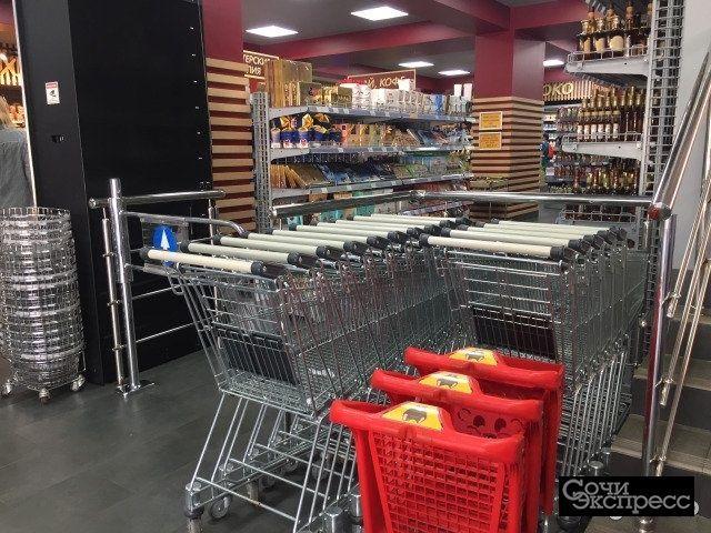 Продавец в супермаркет