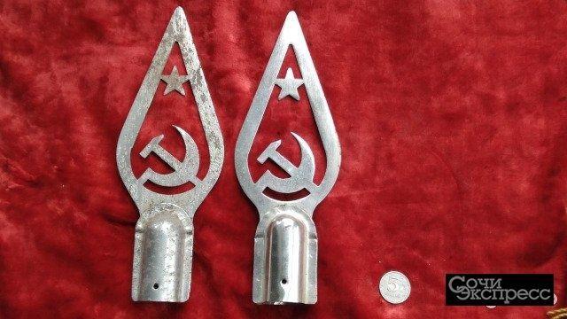 Наконечник на флаг СССР, серп и молот, нержавека