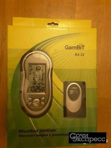 Метеостанция с радиодатчиком gambit rx22