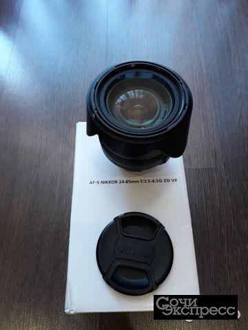 Обектив Nikon AF-S Nikkor 24-85mm 1:3.5-4.5G ED VR