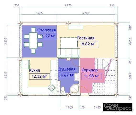 Коттедж 145 м² на участке 3.5 сот.
