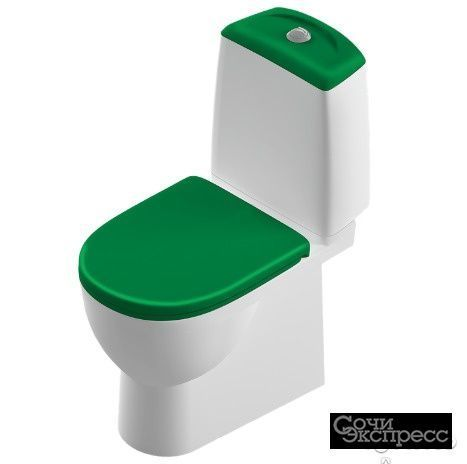 Унитаз sanita luxe best зелёный