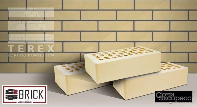 Кирпич облицовочный желтый terex Слоновая кость-02