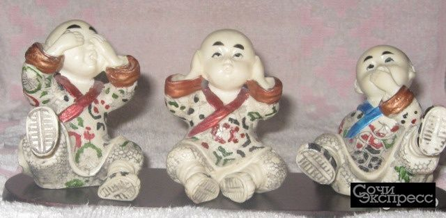Винтажные статуэтки из керамики ручной работы