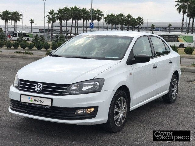 Volkswagen Polo 1.6AT, 2017, седан