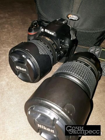 Фотоаппарат Nikon D5200 + два объектива