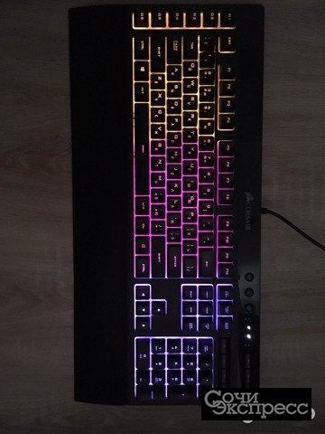 Игровая клавиатура Corsair K55 RGB Keyboard