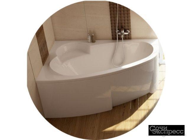 Ванна asymmetric белая 100/105/110*150/160/170
