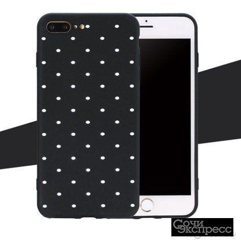iPhone 7/7Plus/6/6S Plus/5S чёрный в горошек