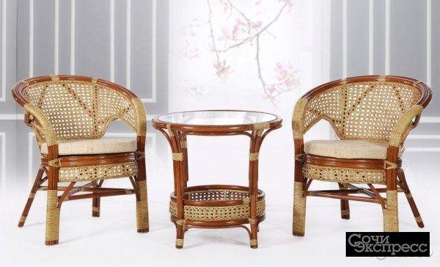 Набор мебели из ротанга Радуга/цвет орех