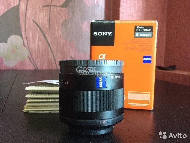 Объектив Sony zeiss FE 35 mm 2,8
