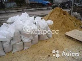 Строительный песок для стяжки в мешках. 50кг