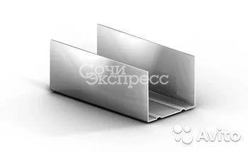 Профиль 75x40 для гипсокартона направляющий 0.45мм