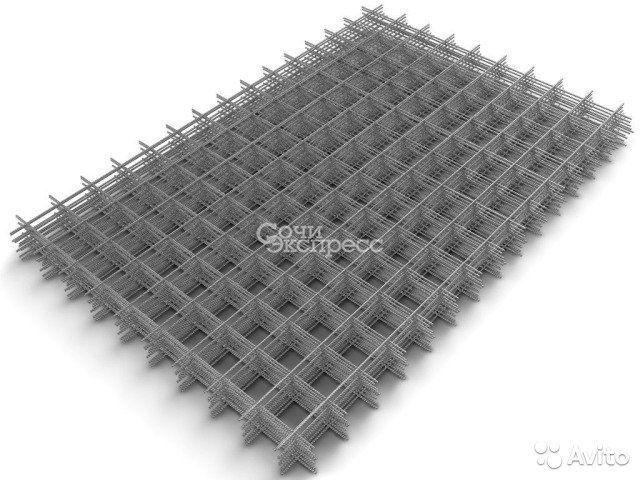 Сетка дорожная 100x100 4мм толщина. 3 м2