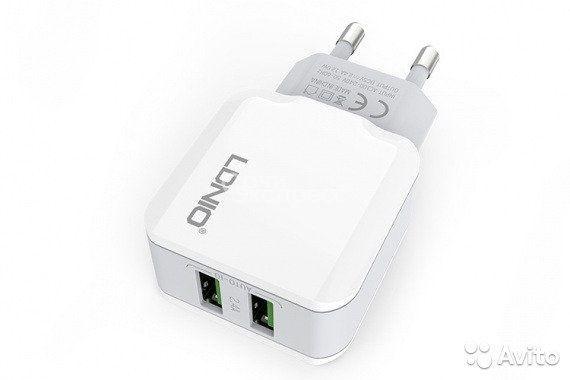 Сетевое зарядное устройство ldnio на 2 USB выхода