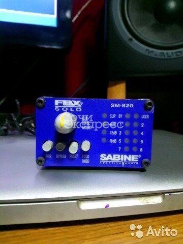 Подавитель обратной связи Sabine fbx solo sm-820