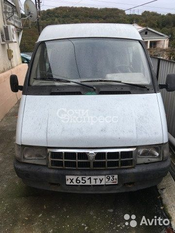 ГАЗ ГАЗель 3221 2.3МТ, 2002, микроавтобус