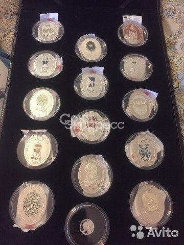 Набор серебрянных сувенирных медалей