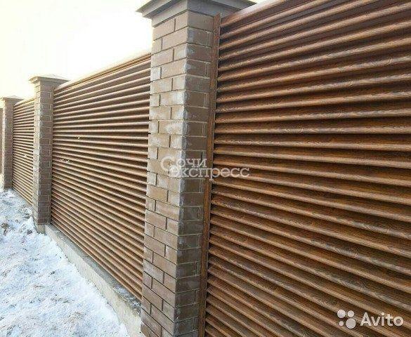 Забор-жалюзи twingo, имитация дерева